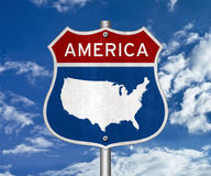 America map Royalty Free Stock Photo