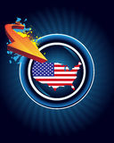 America map and arrow Royalty Free Stock Photography