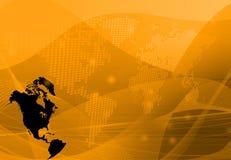 America map communication Stock Photography