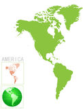 America map and icon Royalty Free Stock Images