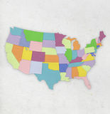 America map on paper Royalty Free Stock Images