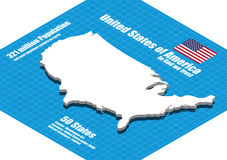 America map vector Stock Image
