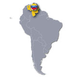 America map and Venezuela. And tourism royalty free illustration
