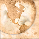 America map-vintage artwork Royalty Free Stock Photography