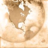 America map-vintage artwork Royalty Free Stock Photos