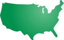 america mapa Obrazy Royalty Free
