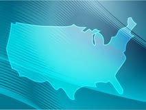 america mapa Zdjęcie Stock
