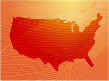 america mapa Fotografia Royalty Free