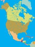 america mapy północ polityczna Zdjęcie Stock