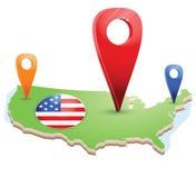 america mapy stan jednoczący Fotografia Stock