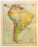 america mapy starzy południe Obraz Stock