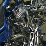 America motocycle engine. Big american motorcycle engine chrome Stock Image