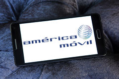 America movil mobile operator logo Stock Photos