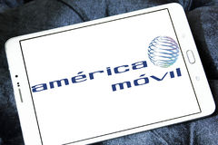 America movil mobile operator logo Stock Photos