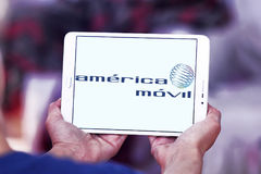 America movil mobile operator logo Stock Photo