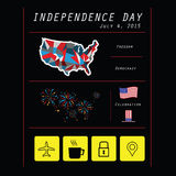 America National day infographic. American Independence day infographic vector Royalty Free Stock Images
