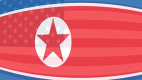 America and north Korea flag. President of the United States animated in after effectspresident of the United States animated in plasticine stock footage