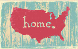 America nostalgic rustic vintage state vector sign Royalty Free Stock Photos