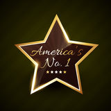 America number one no.1 vector label Royalty Free Stock Images