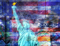America NYC. With Statue of Liberty Royalty Free Stock Image