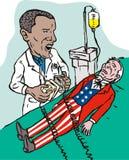 america obama oszczędzanie ilustracji