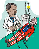 america obama oszczędzanie Zdjęcie Stock