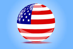 America Orb. Image of an orb with the flag of the United States of America Stock Images