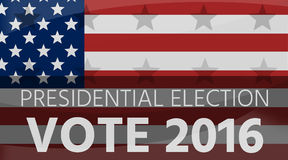 America Presidential Election 2016 Flag Background. Graphic Royalty Free Stock Photography