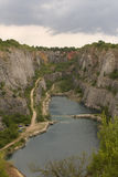America quarries in Czech republic. A big hole in the land Stock Photos