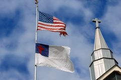 America and Religion Royalty Free Stock Image