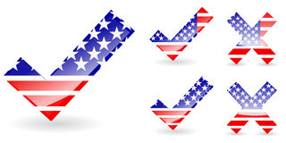 America right and wrong vector illustration