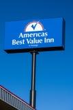 America`s Best Value Inn Exterior Sign and Logo Stock Photos