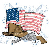 America's cowboy attitude vector Royalty Free Stock Photo
