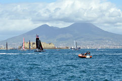 America's Cup 2012 in Naples stock image