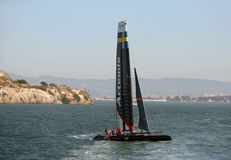 America's Cup Artemis boat in practice run Stock Photography