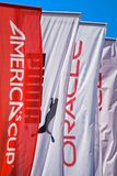 Americas Cup banners stock photo