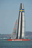 America's Cup boat Artemis and crew including Andrew Simpson Stock Image