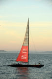 America's cup boat sponsored by Oracle Royalty Free Stock Photo