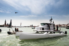 America's cup catamarin in Venice Royalty Free Stock Photos