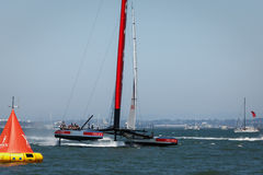 America's Cup qualifying race team Luna Rossa Stock Image