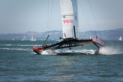 America's Cup qualifying race team Luna Rossa Royalty Free Stock Photo