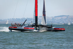 America's Cup qualifying race team Luna Rossa Stock Photo