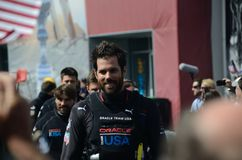 America's Cup 2013. Team Oracle walking to the podium during team introductions at the 2013 America's Cup Stock Photo