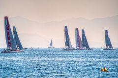 America's Cup World Series 2013 Catamarans Royalty Free Stock Photos
