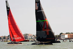 America's Cup World Series in Venice. The America's Cup World Series is a regular circuit of regattas, bringing Cup racing to top venues around the world Stock Photography