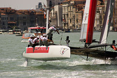 America's Cup World Series in Venice. The America's Cup World Series is a regular circuit of regattas, bringing Cup racing to top venues around the world Stock Photo