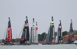 America's Cup World Series Venice - starting race Royalty Free Stock Photos