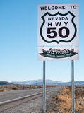 America`s loneliest road, Highway 50 Royalty Free Stock Photography