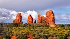 America Southwest Landscape. Amazing rock formations of the American Southwest. Desert landscape in Utah royalty free stock photography