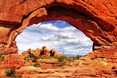 America Southwest Landscape. Amazing rock formations of the American Southwest. Desert landscape in Utah royalty free stock image